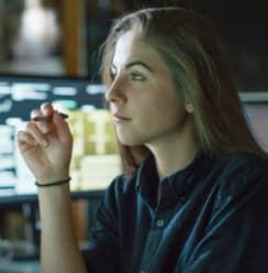 Young women using computer