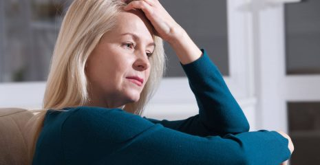 Woman struggling with anxiety