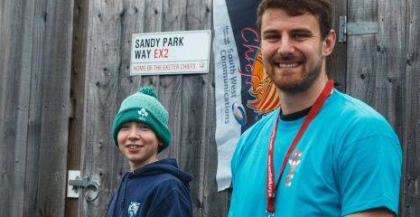 Rugby star Ollie Devoto - Devon Young Carers ambassador