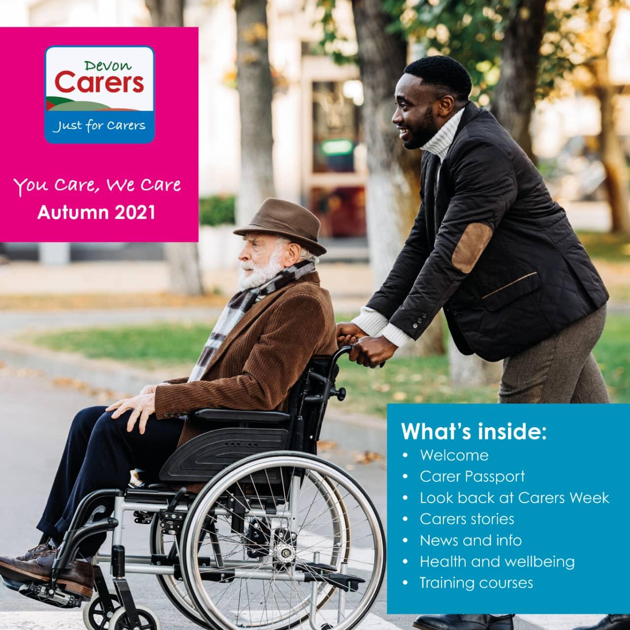 Devon Carers Autumn 2021 Cover
